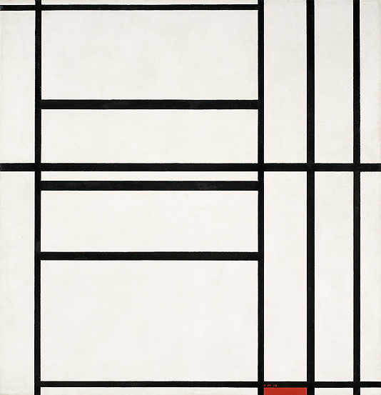 Piet Mondrian, Piet Mondrian, Composizione n. 1 con grigio e rosso 1938
