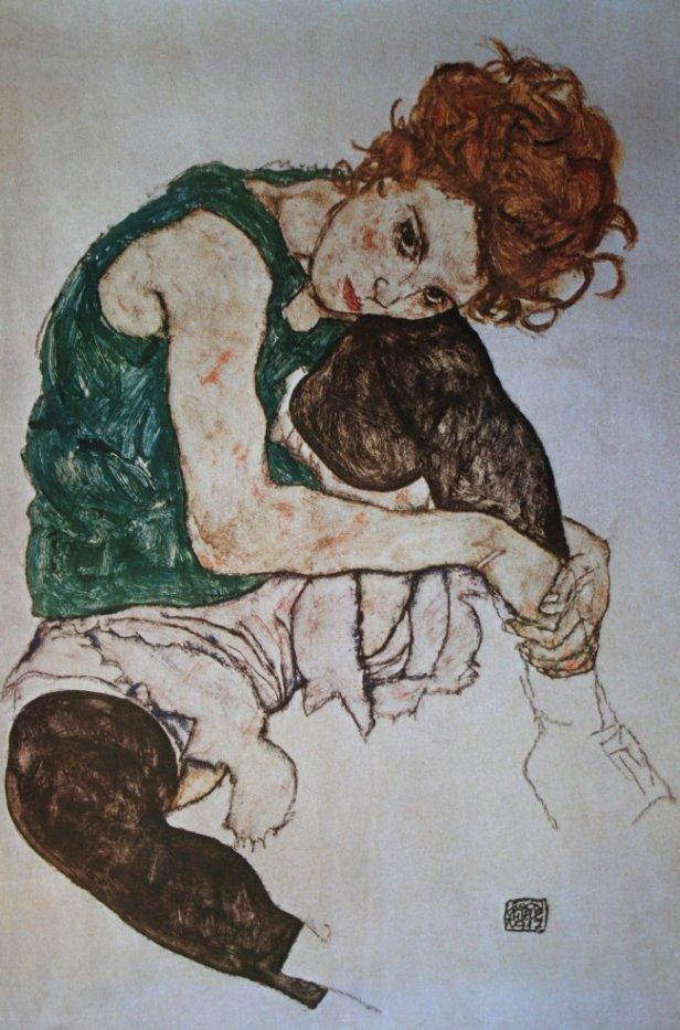 Egon Schiele, Edith, La moglie dell'artista, 1917