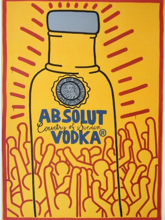 I disegni di Haring per la Absolut Vodka