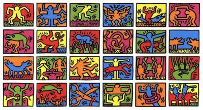 I personaggi colorati che popolano il mondo di Keith Haring