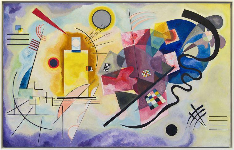 Vassily Kandinskij, Giallo, rosso, blu, olio su tela, 1925, Musée national d'art moderne, Parigi