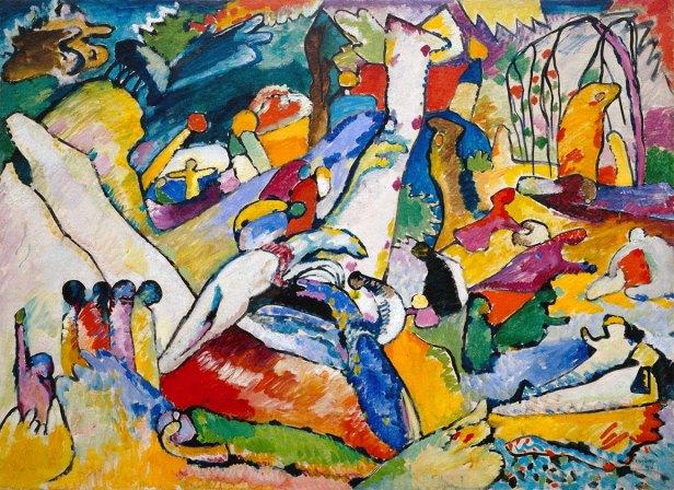 Vasilij Kandinskij, Schizzo per composizione II, 1909-1910, Guggenheim Museum, New York