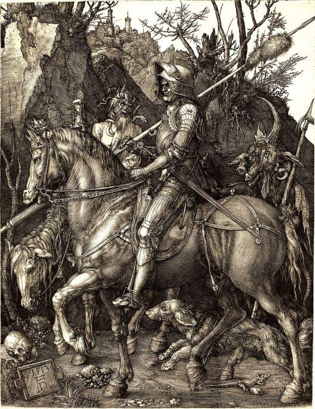 Albrecht_Durer_il-cavaliere-la-morte-il-diavolo_Vita_opere_due-minuti-di-arte