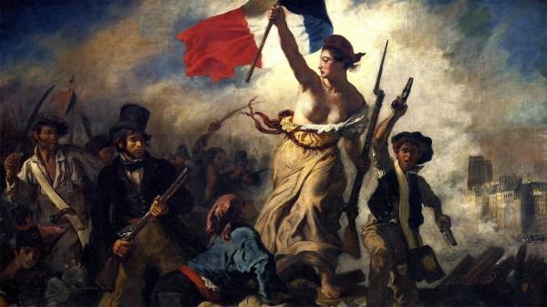 Eugène Delacroix, La libertà che guida il popolo, 1830, olio su tela, 260×325 cm, Louvre, Parigi