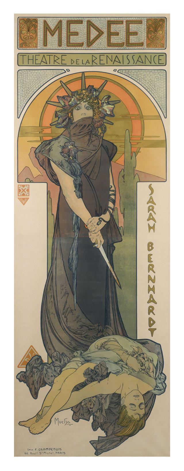 Alfons Mucha, Medée, 1898