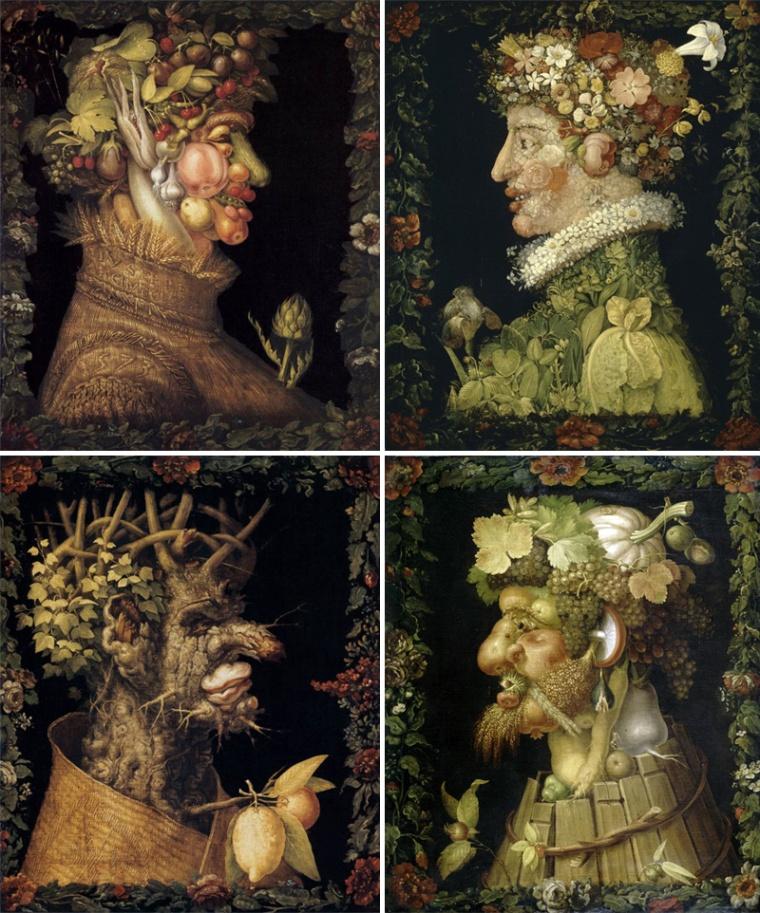 Giuseppe Arcimboldo, Le stagioni (1563-1572)