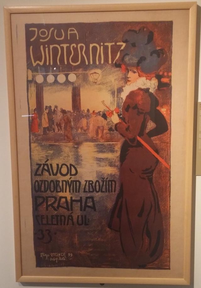 "Hugo Steiner, ""Josua Winternitz. Merceria, Praga"", 1899, litografia a colori su carta"