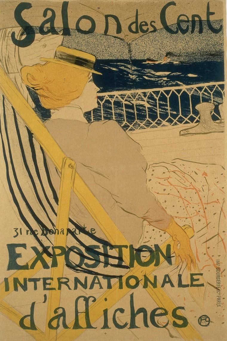 Il manifesto realizzato da Toulouse-Lautrec per il Salon des Cent del 1896