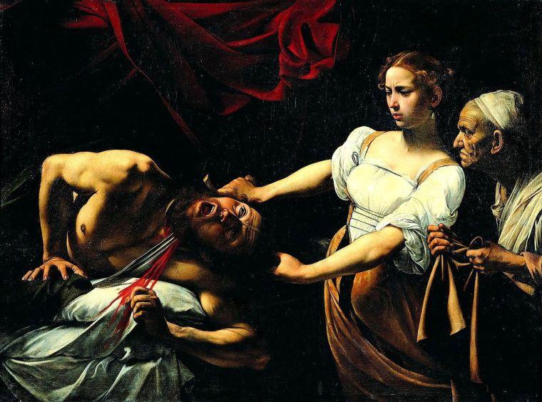 Caravaggio, Giuditta che decapita Oloferne, dipinto