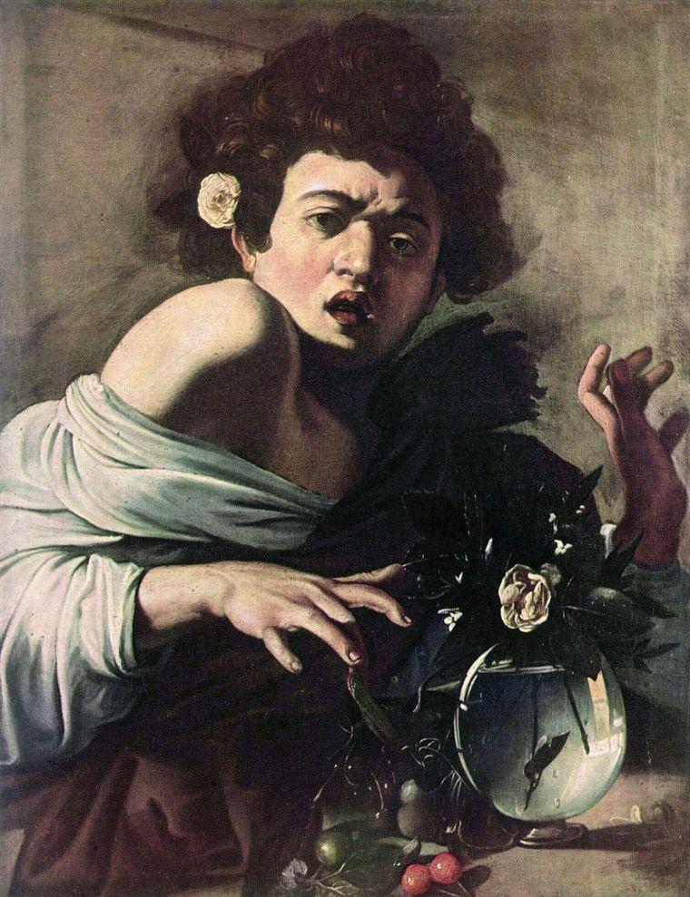 Caravaggio, Ragazzo morso da un ramarro, dipinto