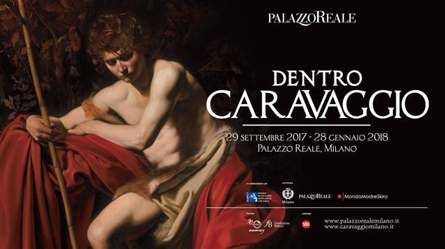 """Mostra """"Dentro Caravaggio"""", Milano. Locandina"""