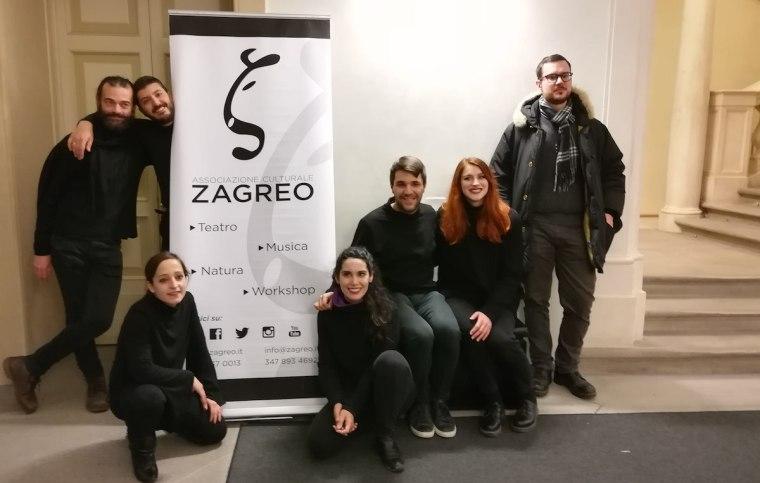 """Gli attori dell'Associazione Culturale Sagreo che hanno messo in scena lo spettacolo """"Orbite galileiane"""""""