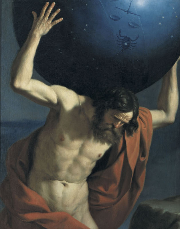 Guercino, Atlante, Museo Bardini