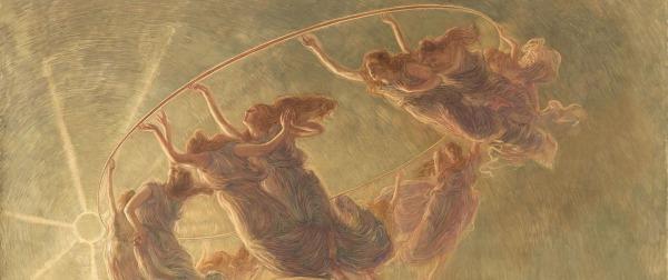 Previati, La danza delle ore (dettaglio)