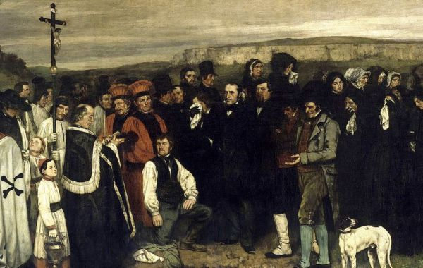 Gustave Courbet, Funerale ad Ornans