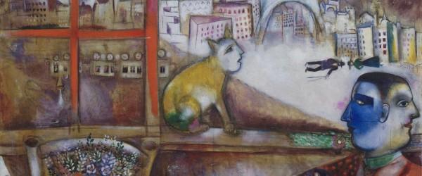 Chagall, Parigi dalla finestra (dettaglio)