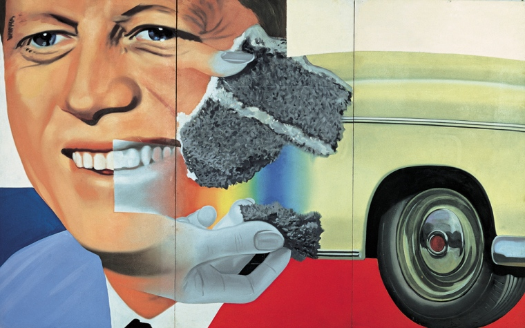 James Rosenquist, President Elect 1960-64, Musée National d'Art Moderne, Centre Georges Pompidou, Parigi