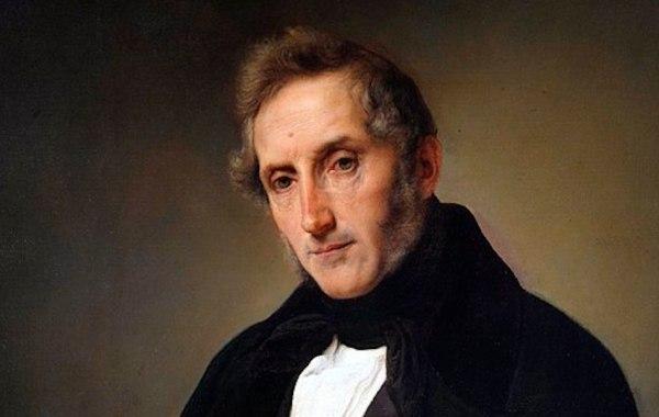 Alessandro Manzoni ritratto da Hayez (dettaglio)