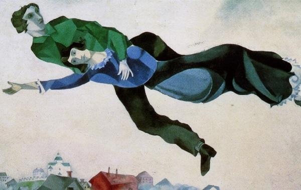 Chagall, sopra la città (dettaglio)