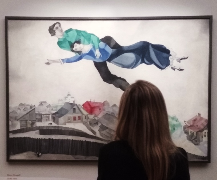 Chagall, Sopra la città, Mostra al Palazzo della Ragione di Mantova