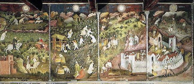 Ciclo dei Mesi, Torre dell'Aquila, Castello del Buonconsiglio, Trento