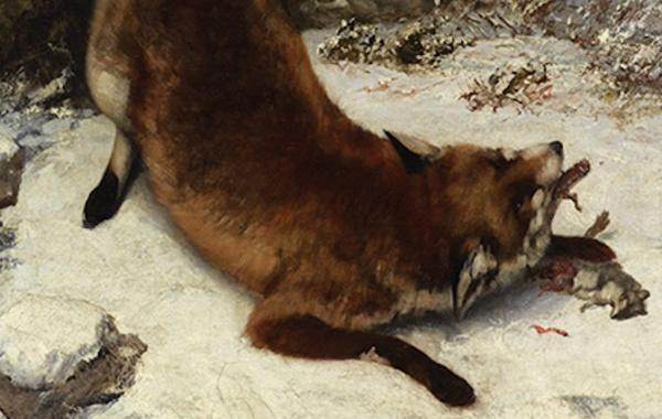 Gustave Courbet, Volpe nella neve (dettaglio)