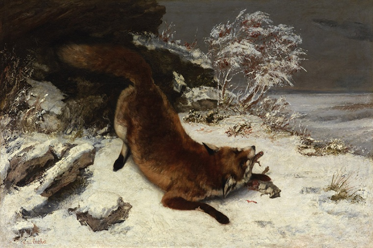 Gustave Courbet, Volpe nella neve, 1860