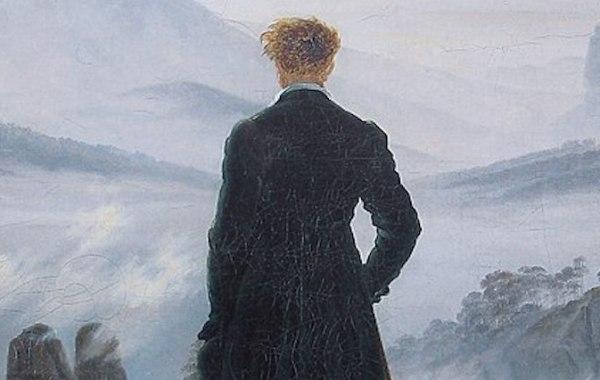 Caspar David Friedrich, Viandante su mare di nebbia, dettaglio